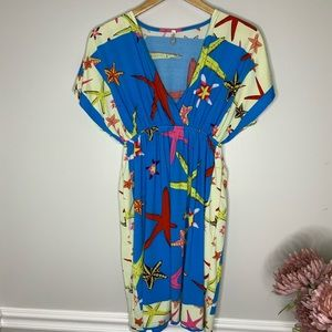 INDIA BOUTIQUE Starfish Bathing-suit cover dress